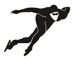 Speed Skater Silhouette v5 Decal Sticker